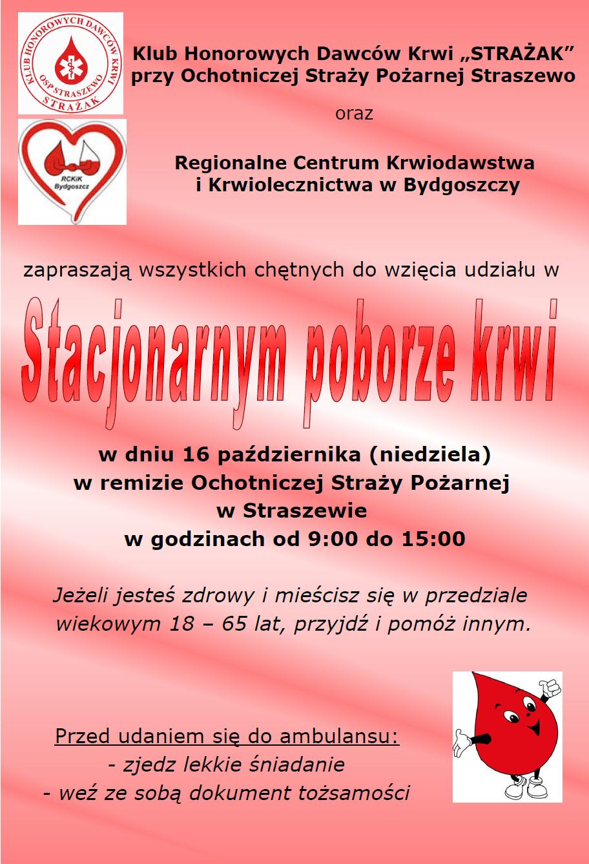 Akcja poboru krwi w Straszewie
